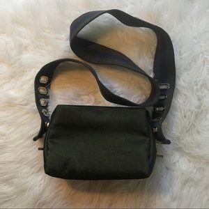 UO Army Green Satin Small Crossbody Bag